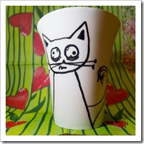 skodelica - mačka