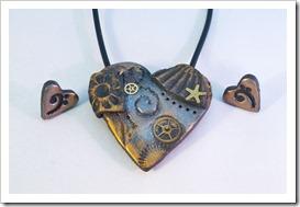 steampunk srce in uhani