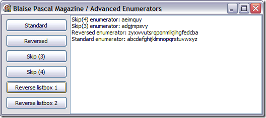 Real World Enumerators sample app