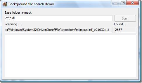 demo 23 - scanning