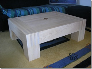 finished coffee table