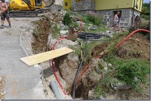kanala za kanalizacijo, plin in optiko