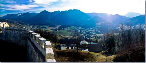 dolina Ločnice, panorama