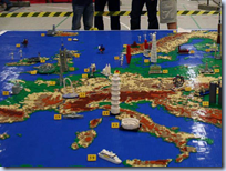 Lego Europe relief map