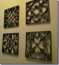 faux metal wall art