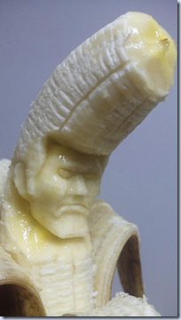 carved banana