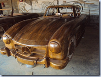Mercedes 300 SL - wooden replica