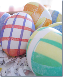 Striped Easter Egg Dyeing