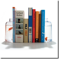Glass Bookends