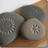 laser-etched stones