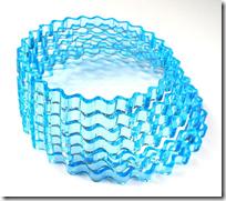 sinusoidal acrylic bracelet