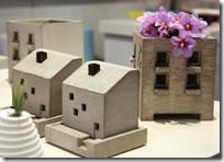 miniature concrete buildings