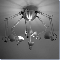 Tertial ceiling lamp