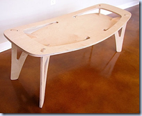 CNC-cut plywood furniture