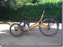 wooden recumbent bike