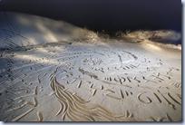 beach caligraphy