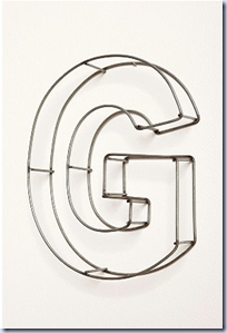 Wire Frame Letters