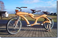 Wooden Tandem Bicycle
