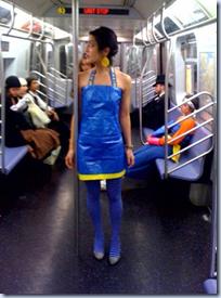 Ikea Blue Bag Halter Dress