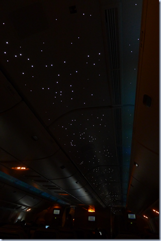 starry sky in the plane